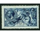 SG402. 1913 10/- Indigo-blue. Superb well centred...