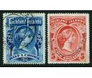 SG41-42. 1898 2/6d Deep blue and 5/-Red. Set of 2. Both superb..