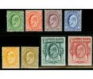 SG43-50. 1904 Set of 8. All superb...