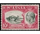 SG124. 1936 10/- Black and carmine. Superb fresh...