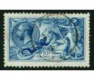 SG411var. 1915 10/- Deep (intense) bright blue. Superb well cen