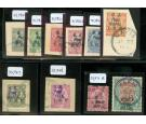 SG M43-M52. 1916 Set of ten. All superb used mostly on...