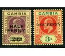 SG69-70. 1906 Set of 2. Brilliant fresh mint...