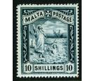SG35. 1899 10/- Blue-black. Superb fresh well centred...