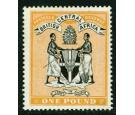 SG29. 1895 £1 Black and yellow-orange. Fantastic fresh mint...