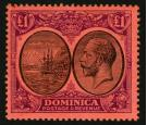 SG91. 1923 £1 Black and purple red. Superb fresh mint...