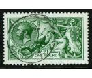 SG403 Var. 1913 £1 Deep Green. Superb fine perfectly centred...