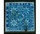 SG4. 1857 3d Pale blue. Superb used with beautiful...