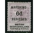 SG10. 1900 6d on 3d Lilac and black. Superb well centred mint...