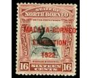 SG267b. 1922 16c Brown-lake. 'Overprint in red'. A superb fresh.