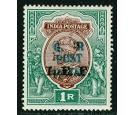 SG M42Var. 1915 1r Red-brown and deep blue-green. 'H/S Double'..