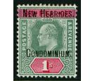 SG9. 1908 1/- Green and carmine. Brilliant fresh well...