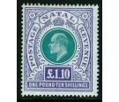 SG143. 1902 £1.10/- Green and violet. Brilliant fresh mint...