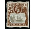 SG18c. 1924 1/- Grey-black and brown. 'Cleft Rock'. Superb fresh