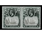 SG97b. 1923 1/2d Grey and black. 'Torn Flag'. Superb fresh mint