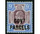 SG O77. 1902 9d Dull purple and ultramarine. Brilliant fresh...