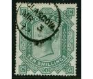 SG128. 1878 10/- Greenish grey. A superb used...