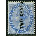 SG77. 1884 2c on 5c Blue. Superb fresh mint with...