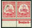 SG M3'C'Var. 1915 7 1/2h Carmine. 'Handstamp Omitted...