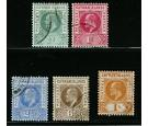 SG8-12. 1905 Set of 5. All superb used...