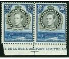 SG141a. 1941 30c Black and dull violet-blue. 'Perforation 14'. S