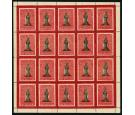 SG19-19a. 1867 1/- Black and rose-carmine. Complete sheet...