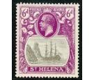 SG104b. 1922 6d Grey and bright purple. 'Torn Flag'. Superb fres