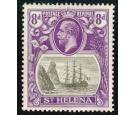 SG105b. 1923 8d Grey and bright violet. 'Torn Flag'. Beautiful..
