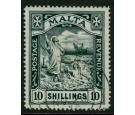 SG96. 1919 10/- Black. Brilliant fine used...