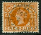 SG128a. 1902 £1 Orange. Very fine well centred used with..