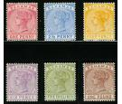 SG47-57. 1884 Set of 6. A superb mint set...