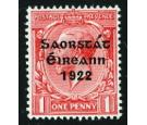 SG53b. 1922 1d Scarlet. 'Accent Inserted By Hand'. Superb fresh