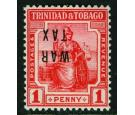 SG185a. 1917 1d Scarlet. 'Overprint Inverted'. Superb fresh mint