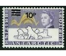 SG34w. 1971 10p on 2/- Violet and orange-sepia.' Watermark Inver