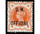 SG O31Var. 1896 1/2d Vermilion. Large Stop After 'O'. Superb...