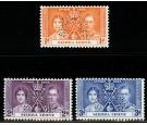 SG185s-187s. 1937 Set of 3 'SPECIMEN'. A superb fresh mint...