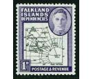 SG G2aa. 1946 1d Black and violet. 'Extra Island'. Brilliant U/M