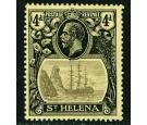 SG92a. 1923 4d Grey and black/yellow. 'Broken Mainmast'. Superb.