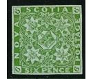 SG5. 1851 6d Yellow-green. Brilliant fresh mint...