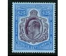 SG168. 1911 $25 Purple and blue/blue. A beautiful example...