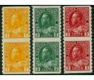SG256a,257b,258a. 1922 IMPERFORATE...