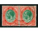 SG17. 1916 £1 Red and green. A superb used pair...