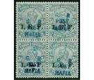 SG M33. 1915 3p Grey. A superb fine used block...