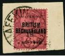 SG15. 1900 1/- on 6d Purple/rose-red. Superb fine used on piece.