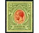SG48. 1914 5/- Red and green. Superb well centred mint...