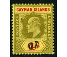 1908 Revenue Stamp. 1d on 4d Black and red/yellow. 'SURCHARGE IN