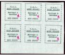 SG10. 1916 1d Black. Superb fresh unused corner sheet...