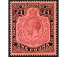 SG55. 1918 £1 Purple and black/red. Choice superb fresh mint wit
