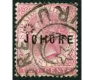 SG3. 1884 2c Pale rose. Very fine used...