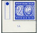 SG D19a. 1970 2c Ultramarine. 'Printed on gummed side' Brilliant